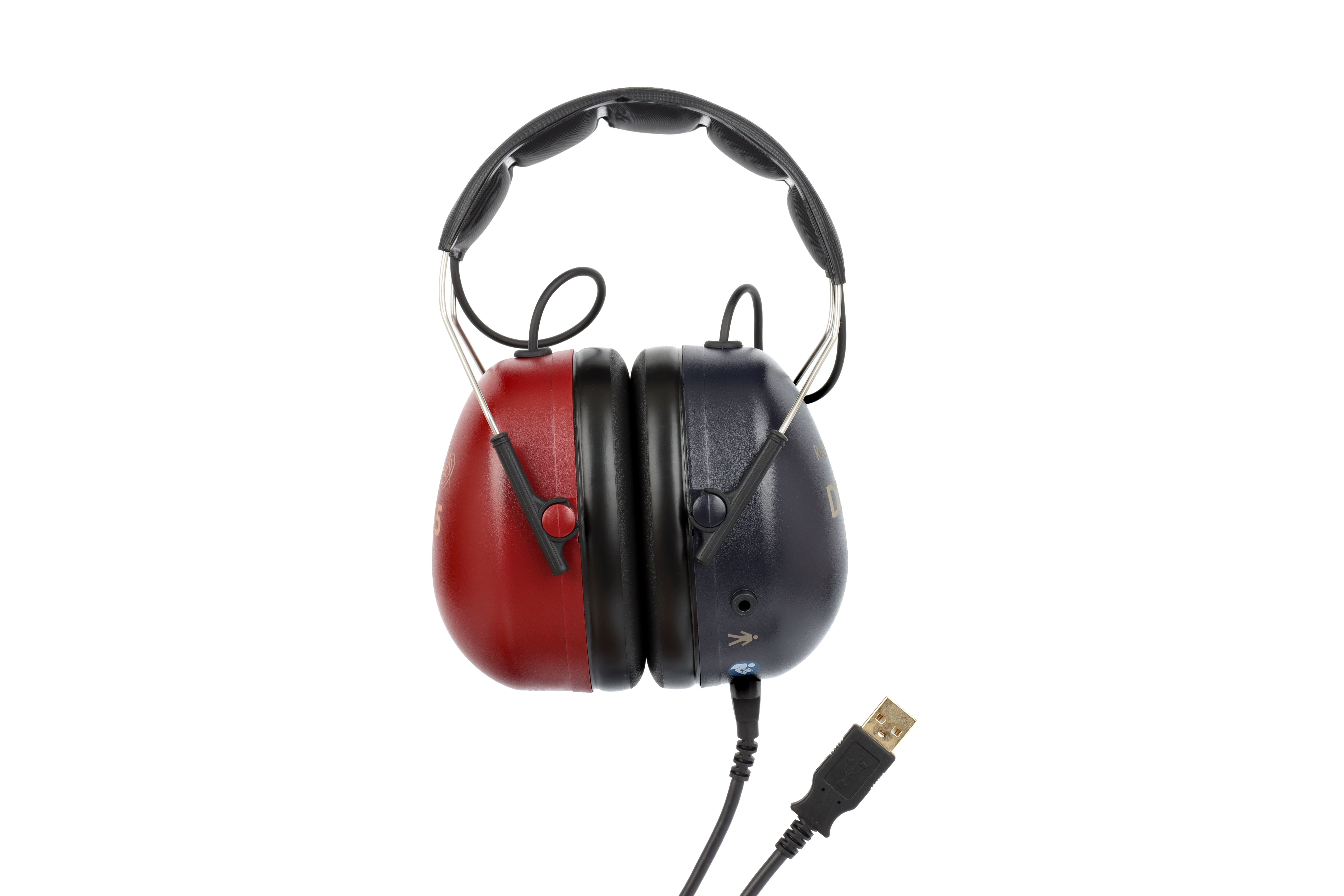 Circumaural audiometric headset with integrated controller
